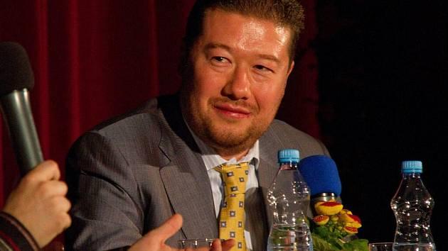 Tomio Okamura v Holýšově.