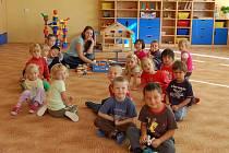 Děti ve školce v domažlické ulici Msgre B. Staška.