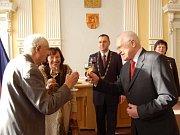 Z návštěvy prezidenta Václava Klause v Domažlicích.
