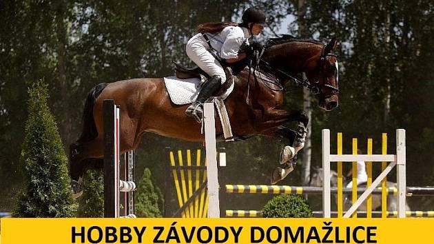 Jezdecké závody v Domažlicích.