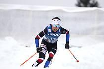 Kateřina Razýmová na mistrovství světa v Oberstdorfu na trati 10 km klasicky.