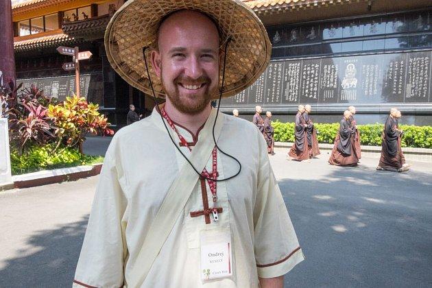 Ondřej Veselý v Taiwanu.