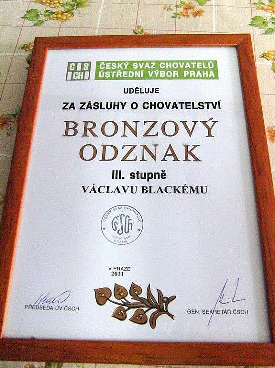 Ocenění pro Václava Blackého.