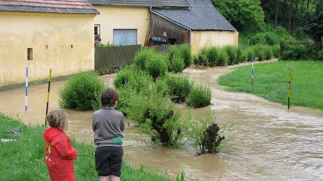 Povodně v Kvíčovicích.