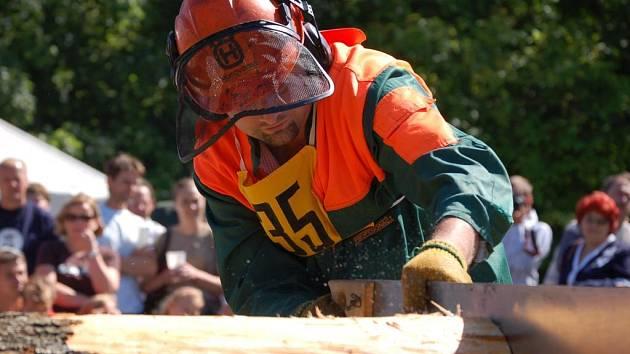 Klání dřevorubců v Peci pod Čerchovem