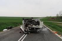 Nehoda dodávky mezi Holýšovem a Ohučovem.