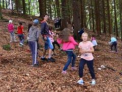 V LESE. Předností letních táborů je pobyt dětí v přírodě, na který během školních měsíců nezbývá čas.