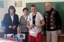 Projektu Škola pro praktický život navrhl logo jako vítěz soutěže David Ferdinandy. Foto: archiv SOŠ a SOU Horšovský Týn