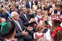 Prezident ČR Václav Klaus navštívil v sobotu 14. srpna Domažlice.