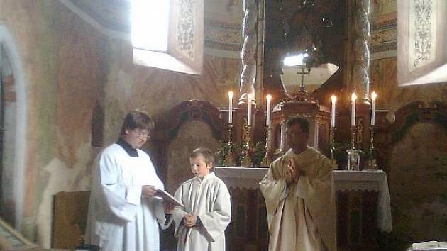 Z pouťové mše v kostele sv. Jiljí v Mělnici.