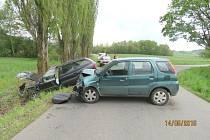 Nehoda u Hvožďan.