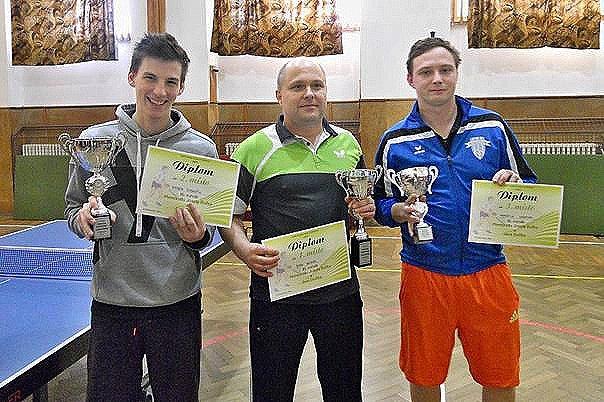 Zleva Marek Vyskočil, Jan Michal a Martin Hranai.