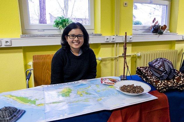 Studenti zciziny na domažlické obchodní akademii.