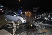 Nehoda v Masarykově ulici v Domažlicích.