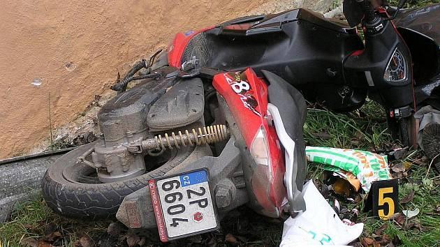 Z místa tragické nehody v Holubči.