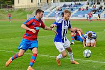 Viktoria Plzeň B (v červených dresech) utrpěla na Chodsku debakl. S Domažlicemi padla vysoko 0:8.