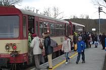 Zrenovovaná stanice Domažlice-město.