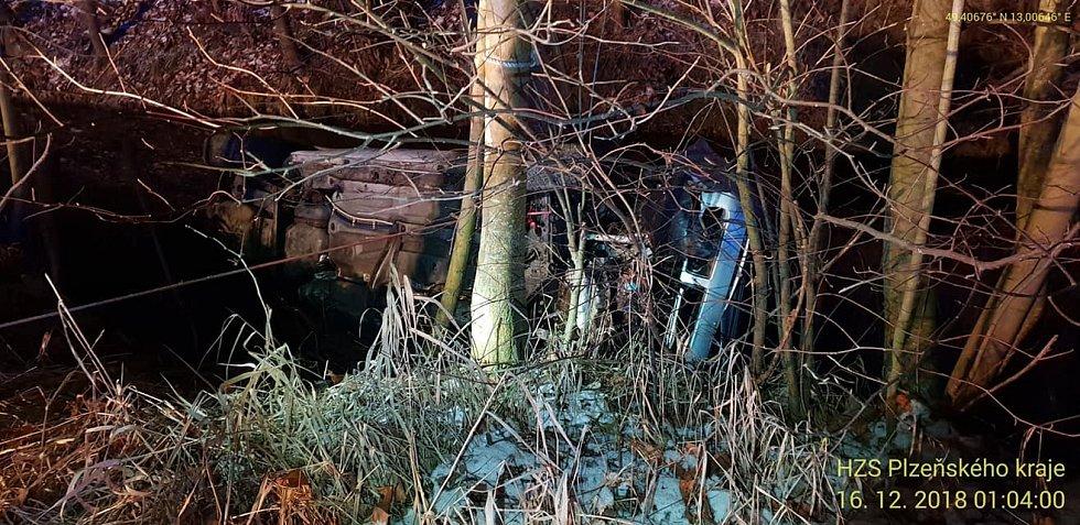 Dopravní nehoda u Koutu na Šumavě