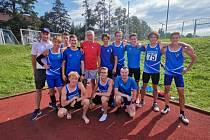 Druhé kolo první ligy atletických družstev vyhráli domácí atleti AC Domažlice.