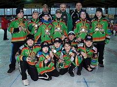 Mladší žáci HC Domažlice na turnaji v německém Deggendorfu.