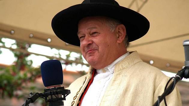 Josef Nejdl, vedoucí Chodského souboru Mrákov.