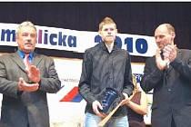 Sportovec roku 2010 Jiří Voják při vyhlášení výsledků ankety v Kolovči.