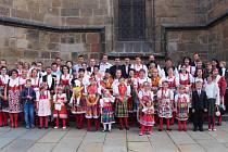 FARNÍCI  Z DOMAŽLIC se v hojném počtu a ve slavnostních krojích zúčastnili  kněžského svěcení Pavla Fořta v plzeňské katedrále.