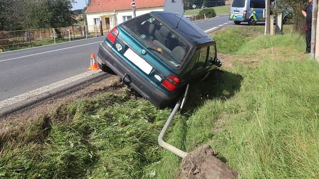 Nehoda u Horšova z 14. září.