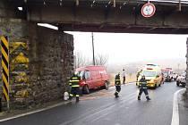 Dopravní nehoda u Loučimi.