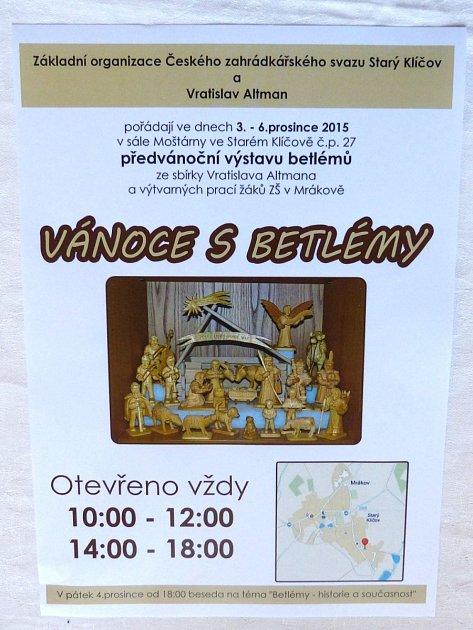 Pozvánka na výstavu do Starého Klíčova.