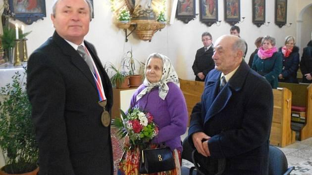 Diamantová svatba ve Staněticích.