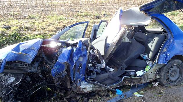 Z dopravní nehody u Srb.