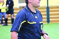 Fotbalový a futsalový rozhodčí Petr Hejda.