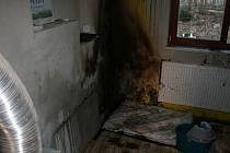 Požár v rodinném domě v Srbicích.
