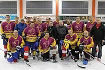 Hokejisté Old Lucky Boys Domažlice.