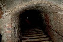 Nepřístupné sklepy horšovskotýnského zámku.