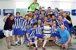 Bravo, Benfika! Fotbalisté Jiskry Domažlice B slavili v sobotu postup do krajského přeboru.
