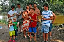 Z tábora mladých rybářů.