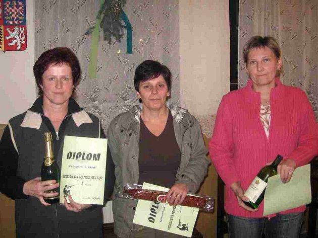 Nejlepší tři ženy (zleva): Dana Svobodová, Ladislava Švajková a Jitka Žáčková.