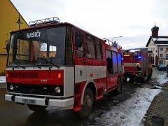 Poběžovičtí hasiči pomohli s přetopeným kotlem na náměstí.