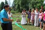 Otevření naučné stezky a školní zahrady v Poběžovicích.