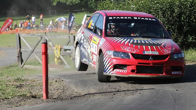 Ve dnech 26. – 28. srpna pokračovala domácí rallyová sezona 46. ročníkem Barum Czech Rally Zlín. Na snímku domažlická posádka Marcel Tuček - Petr Dufek.