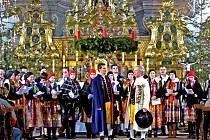 POSTŘEKOVŠTÍ při Chodském vánočním koncertu 2012 v arciděkanském chrámu v Domažlicích.