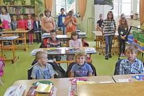 Ze zahájení školního roku v Milavčích.