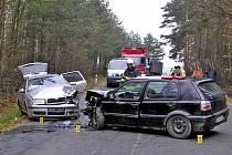 Čtvrteční nehoda mezi Klenčím a Draženovem.