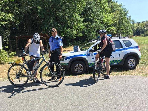 Strážníci se zaměřili na kontrolu cyklistů
