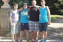 Zeměpisnou výpravu absolvovali Vítek Adamovský, Martin Novák, František Novák a Jan Náhlovský.