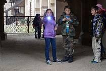 Vyšetřování na horšovskotýnském zámku.