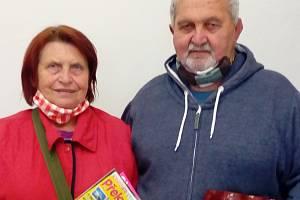Vítězka sedmého kola Jana Beranová s manželem Antonínem.