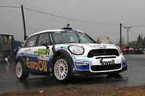 Vítěz loňské soutěže Václav Pech ve voze Mini John Cooper.